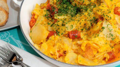 receta revuelto patatas chistorra